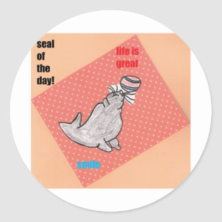 life is great classic round sticker