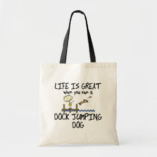 Life is Great Dock Jumping Budget Tote Bag