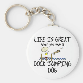 Life is Great Dock Jumping Keychain