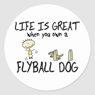 Life is Great Flyball Classic Round Sticker