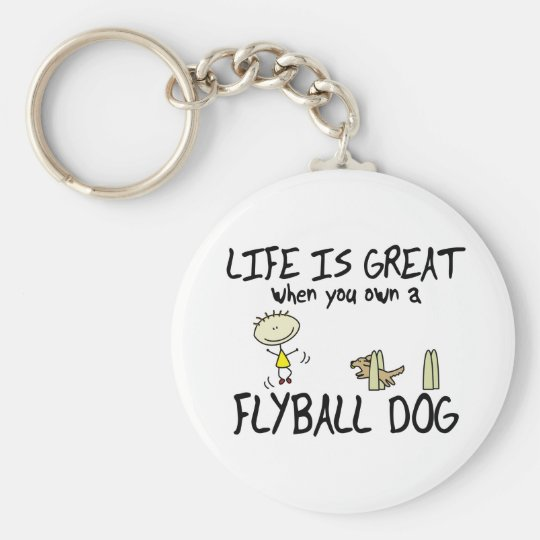Life is Great Flyball Keychain