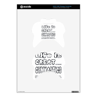 Life Is Great Gymnastics Makes It Better. Xbox 360 Controller Skins