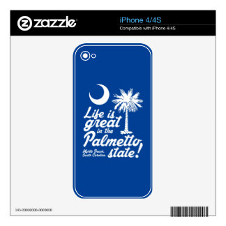 Life Is Great in the Palmetto State! Decals For iPhone 4S