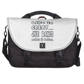 Life is great Jive dance makes it better Commuter Bags