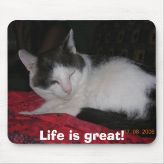 Life is great! mouse pad