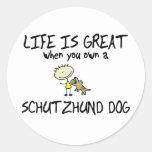Life is Great Schutzhund Round Stickers