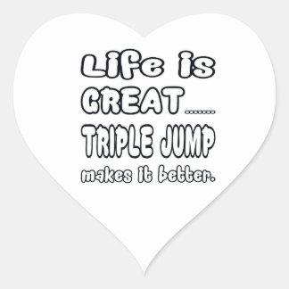 Life Is Great Triple Jump Makes It Better. Heart Sticker