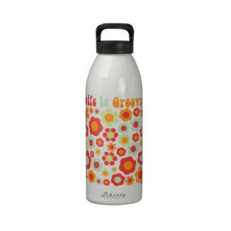 Life Is Groovy Water Bottle