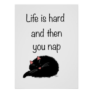 Life is Hard and Then You Nap Poster