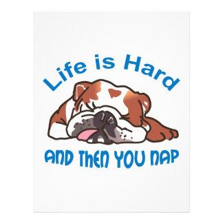 Life Is Hard Letterhead