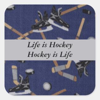 Life is Hockey Square Sticker