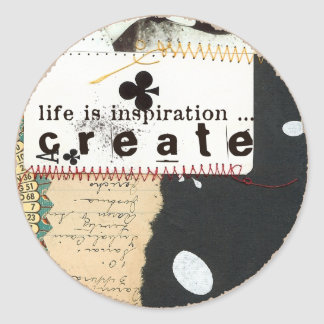 life is inspiration sticker