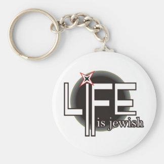 Life is Jewish Keychain