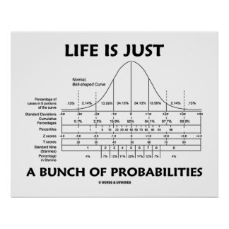 Life Is Just A Bunch Of Probabilities (Stats Fun) Poster