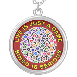 Life Is Just A Game Bingo Is Serious Custom Necklace