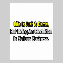 Life Is Just a Game .. Electrician Postcard