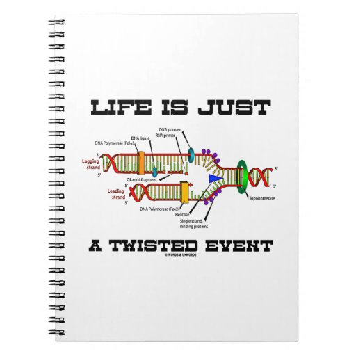 Life Is Just A Twisted Event (DNA Replication) Notebooks