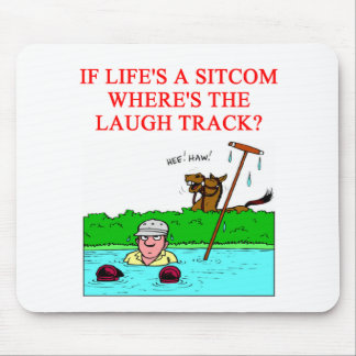 life is  laugh mouse pad
