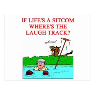 life is  laugh postcard