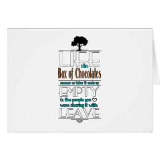 Life is Like a Box of Chocolates Quote Print Card