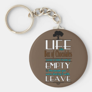 Life is Like a Box of Chocolates Quote Print Key Chains
