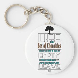Life is Like a Box of Chocolates Quote Print Keychain