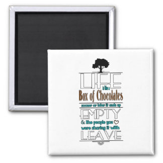 Life is Like a Box of Chocolates Quote Print Magnet