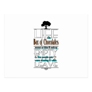 Life is Like a Box of Chocolates Quote Print Postcard