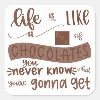Life is like a Box of Chocolates Sticker