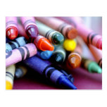 Life is like a box of crayons postcard