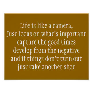 Life is Like a Camera Poster