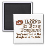 Life is Like a Donut Refrigerator Magnet