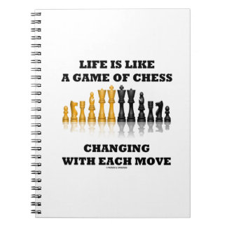 Life Is Like A Game Of Chess Changing Each Move Spiral Notebook