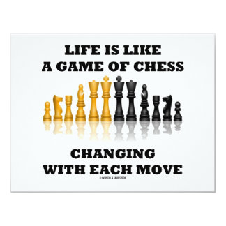 Life Is Like A Game Of Chess (Chess Attitude) Card