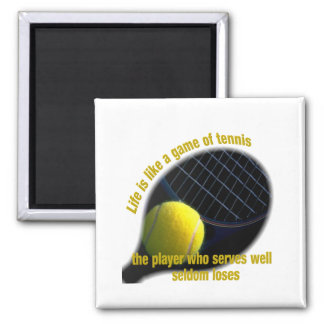 Life is like a game of tennis refrigerator magnet
