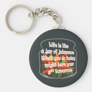 Life Is Like A Jar of Jalapenos...Keychain