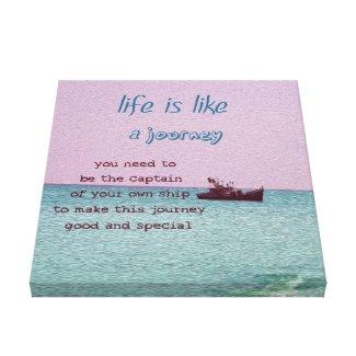 Life is Like a Journey Inspirational Decor Art
