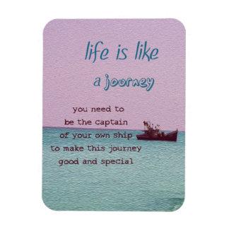 Life is Like a Journey Inspirational Digital Art Rectangular Photo Magnet