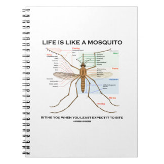 Life Is Like A Mosquito Biting You When You Least Notebook