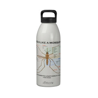 Life Is Like A Mosquito Biting You When You Least Water Bottles