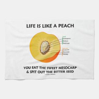 Life Is Like A Peach Eat Sweet Mesocarp Food Humor Towels