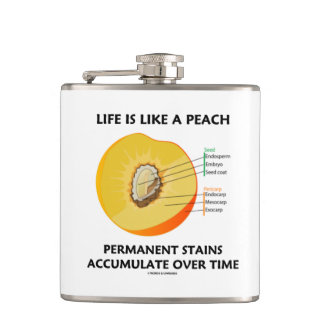 Life Is Like A Peach Permanent Stains Accumulate Flask