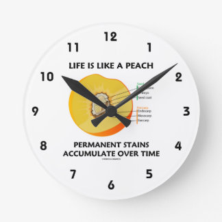 Life Is Like A Peach Permanent Stains Accumulate Round Clock