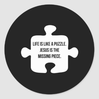 Life is Like a Puzzle Classic Round Sticker