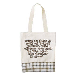 Life is like a roll of toilet paper... zazzle HEART tote bag