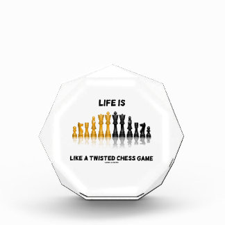 Life Is Like A Twisted Chess Game (Chess Set) Award