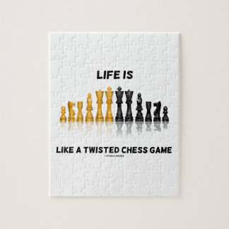 Life Is Like A Twisted Chess Game (Chess Set) Jigsaw Puzzle