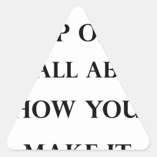 life is like cup of tea triangle sticker