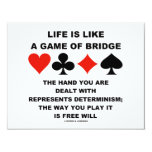 Life Is Like Game Of Bridge Determinism Free Will Invitations