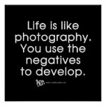 Life Is Like Photography Poster